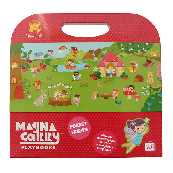 Bring your own enchanted fairy forest to life with Tiger Tribe's Fairies in the Forest Magna Carry. Each set is filled with beautifully illustrated woodland creatures and delightful forest fairy folk, of course!