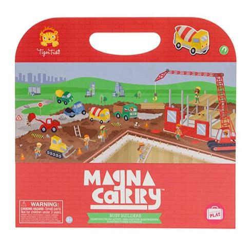 Budding builders and construction vehicle fans will love this Tiger Tribe Magna Carry ­Busy Builder set.