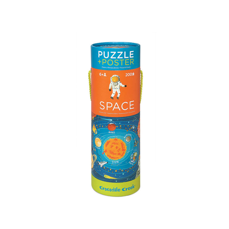 Space Puzzle and Poster (200 piece) - Kids Room Decor | Toys Gifts | Childrens Interiors | Rooms for Rascals