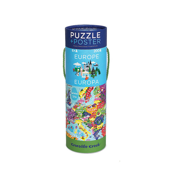Europe Puzzle and Poster (200 Piece) - Rooms for Rascals