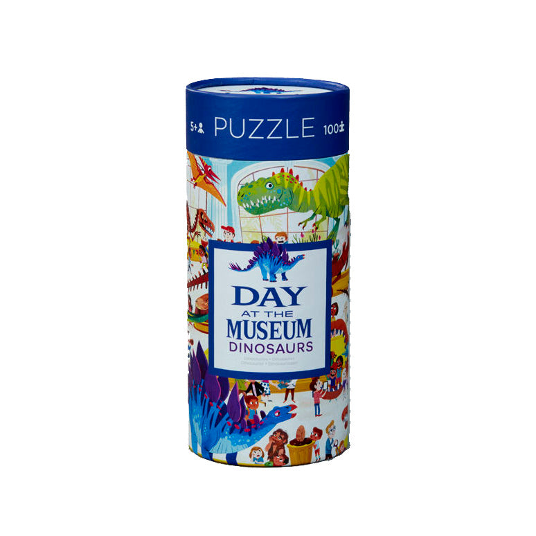 The Day at the Museum Dinosaurs 72 piece puzzle will transport your imagination back in time.