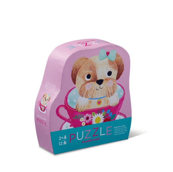Pup in a Cup Mini Puzzle (12 piece) - Rooms for Rascals