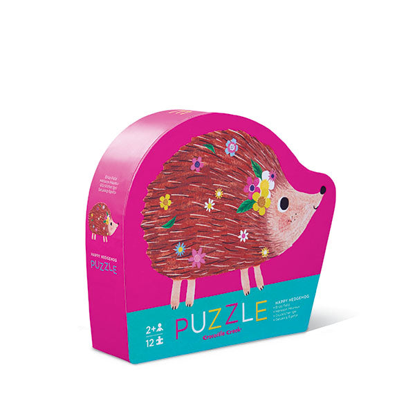 Crocodile Creek Happy Hedgehog 12pc Mini Puzzle. A perfect first puzzle for any toddler!