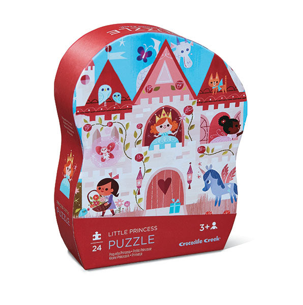 Little princess jigsaw puzzle with beautifully illustrated artwork on both puzzle and shaped storage box.