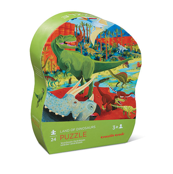 An absolute must for all those little dinosaur lovers in your life! Twenty four thick puzzle pieces that are easy for little hands to put together...