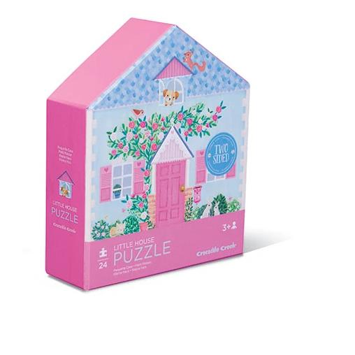 Little House 2 sided puzzle presented in a gorgeous house shaped box.High-quality pieces - Great for learning and playing.
