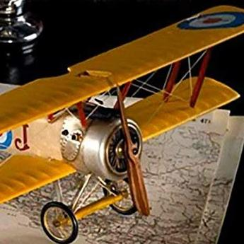 Style your rascals interior with this stunning handmade replica of a small WWII Sopwith Camel Model Plane from Authentic Models.Suspend from a height using fishing line (provided) for the appeal of actual flight in your space.