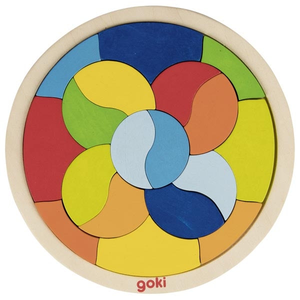 Test your puzzle skills with this lovely wooden mandala puzzle from Goki. It's a colourful wooden mandala that's a fun and tricky challenge for any little rascal!