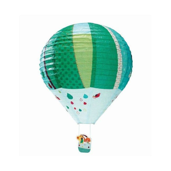 This beautiful green hot air balloon lampshade from Lilliputiens is a must for any little child's room.