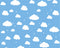 Cartoon Cloudy Sky Wall Mural - Rooms for Rascals, a Leafy Lanes Retailers Ltd business