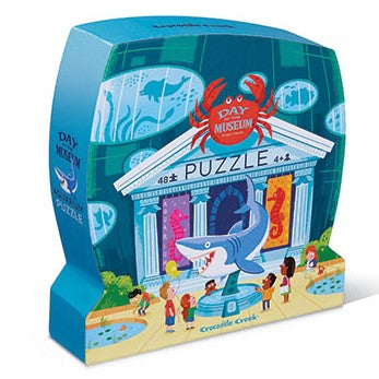 The Day at the Museum Aquarium 48 piece puzzle will transport you to a fun, whimsical aquarium.
