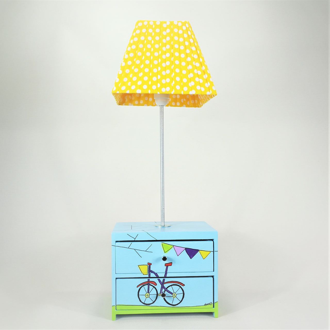 Bicycle Side Lamp with Little Drawers - Rooms for Rascals