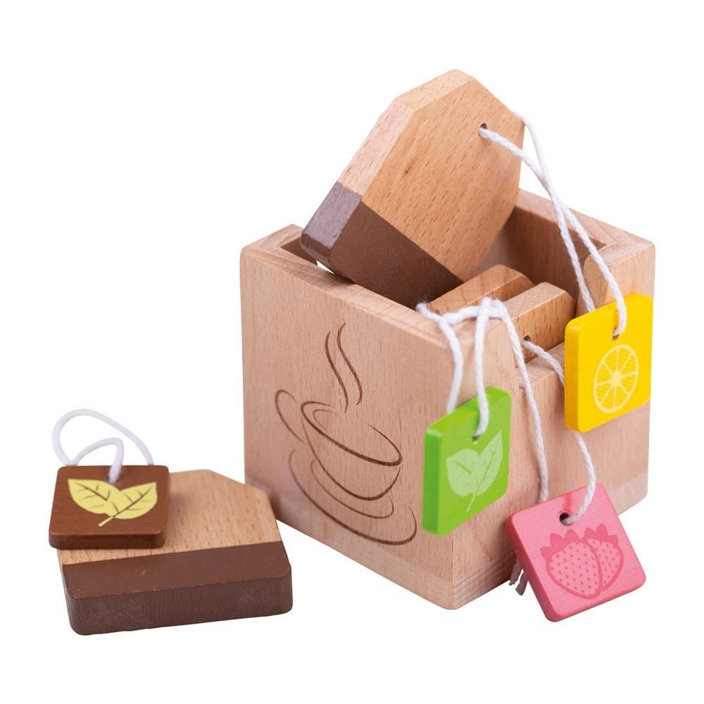 Little ones can host the perfect tea party with these interesting tea flavours with the Bigjigs Toys Wooden Tea Bags. There is a wide variety of flavours including lemon, strawberry and mint.