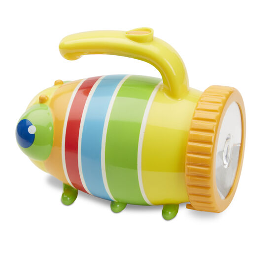 Have fun and explore in the garden at night or even stories under the duvet, with this delightful toddlers Bugtorch from Melissa and Doug.