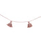 This beautiful braided cotton garland from Lorena Canals comes in dusty pink and is perfect for decorating your children's room. It is made with mini cotton tassels in a matching colour and comes rolled up with a kraft paper gift box.