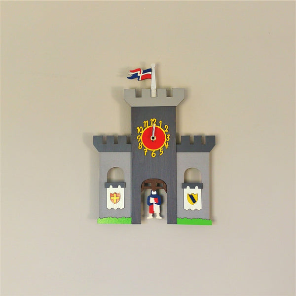 Knight's Castle Pendulum Clock - Kids Room Decor | Toys Gifts | Childrens Interiors | Rooms for Rascals