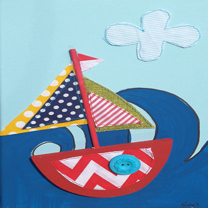 Sea Boat Picture Blue - Kids Room Decor | Toys Gifts | Childrens Interiors | Rooms for Rascals