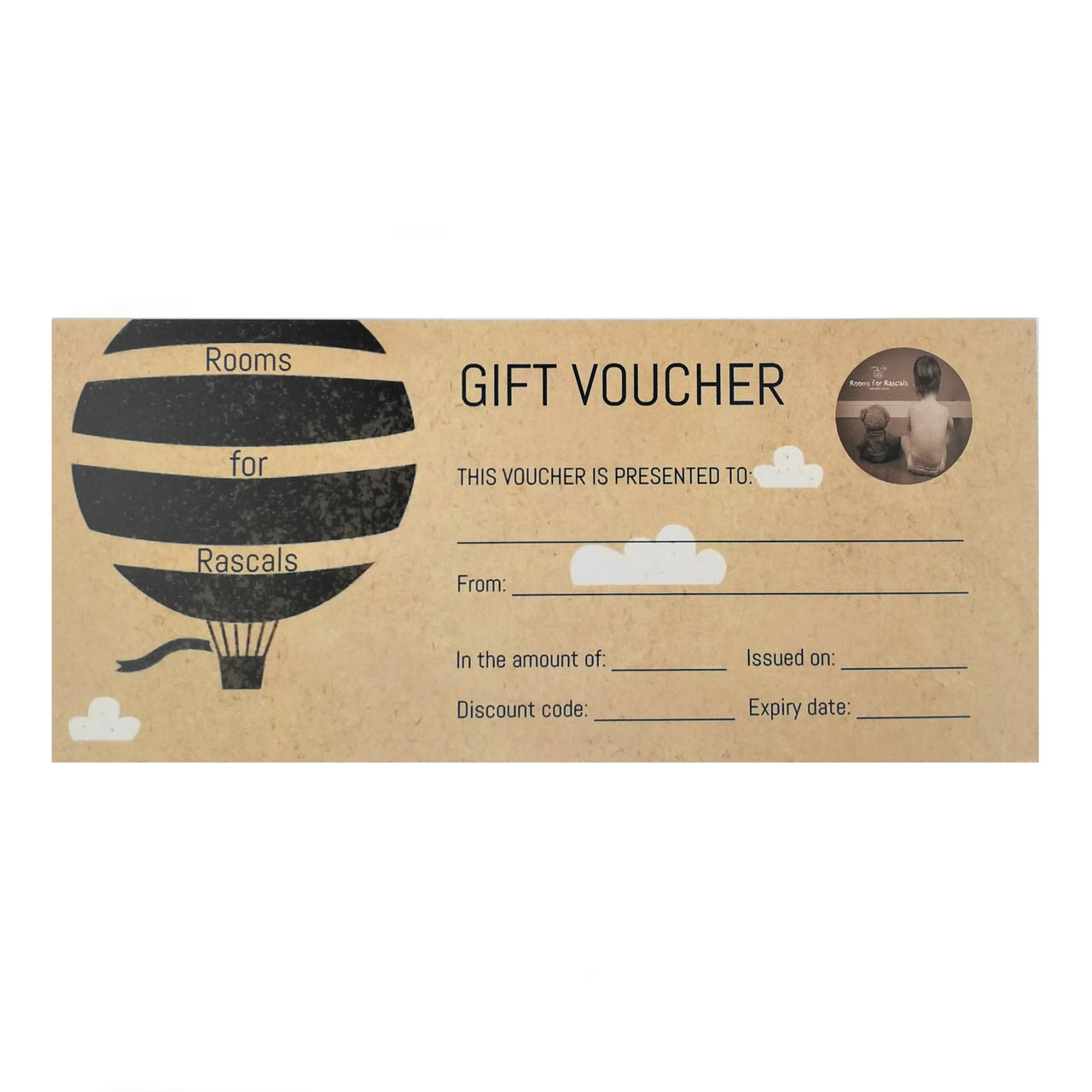 Gift Voucher - Kids Room Decor | Toys Gifts | Childrens Interiors | Rooms for Rascals