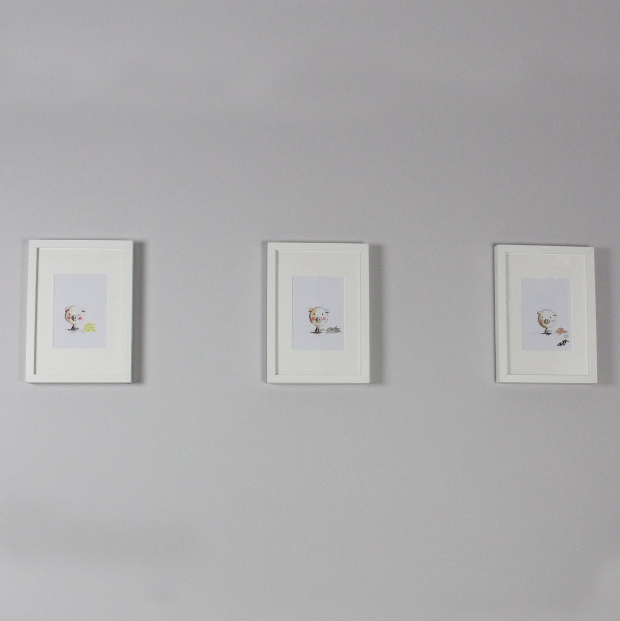 Three Little Pigs Watercolour Prints (Set of 3) - Rooms for Rascals
