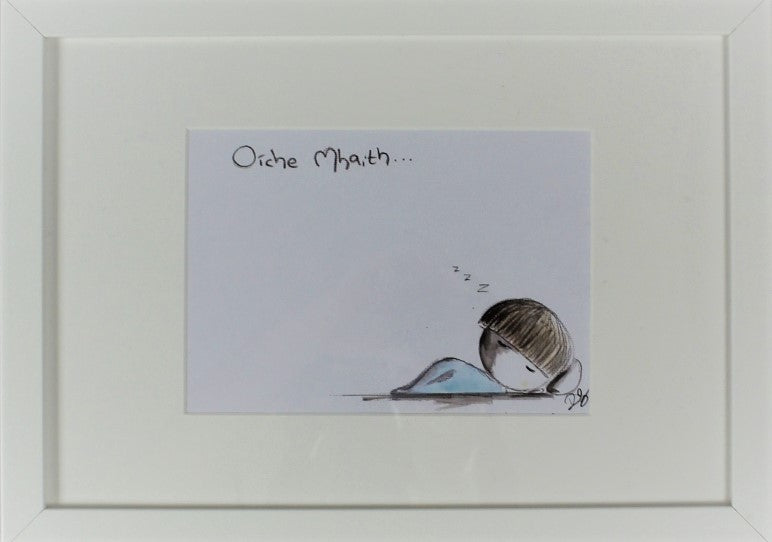 These two separate frames depicting a sleeping child can be hung vertically or horizontally but also have a stand on the back if you just want to stand them on a shelf.