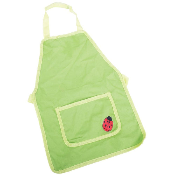 Ensure your little gardener stays clean with this green 100% cotton garden apron from Bigjigs! The Apron features a pretty ladybird and pocket to store and hold gardening tools when they are not in use. A great way to encourage little ones to help out in the garden.