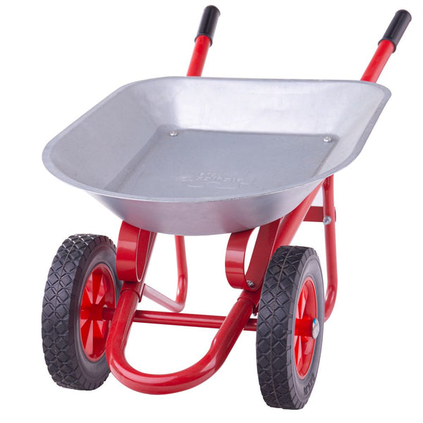 Let your little on help out in the garden with this wheelbarrow from Bigjigs! This wheelbarrow has two wheels to help ensure that your little one's load doesn't tip over and handles that are easy for little hands to grip. Functional and durable, with plenty of load space within the easy to clean tray and built to last with a strong construction. Requires adult assembly.