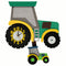 Tractor Green Pendulum Clock - Rooms for Rascals, a Leafy Lanes Retailers Ltd business