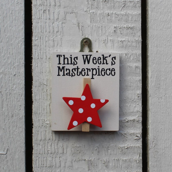 This Weeks Masterpiece Red Star with Spots - Kids Room Decor | Toys Gifts | Childrens Interiors | Rooms for Rascals