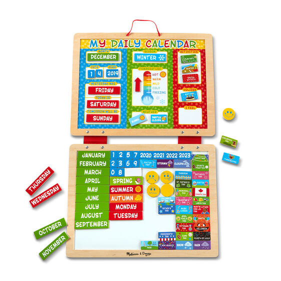 This Daily Magnetic Calender from Melissa and Doug will help your child understand the different days, weeks, months and seasons all in one!