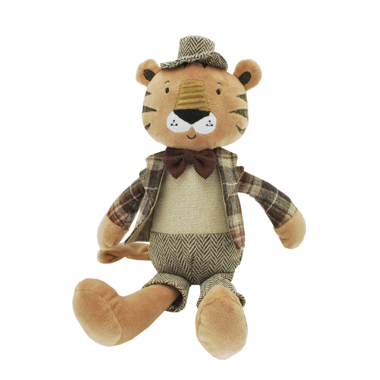Rob the Dressed Tiger Soft Toy - Rooms for Rascals