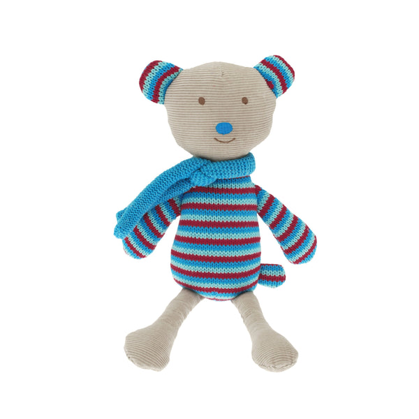 Billy the Bear is a reversible soft toy, awake on one side, asleep on the other.