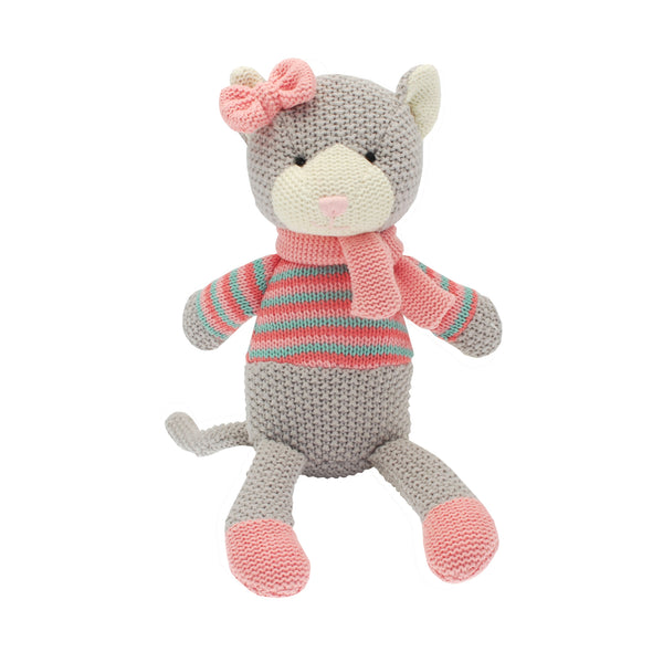 Katie cat is a fun and friendly cuddly toy for any newborn or young child.