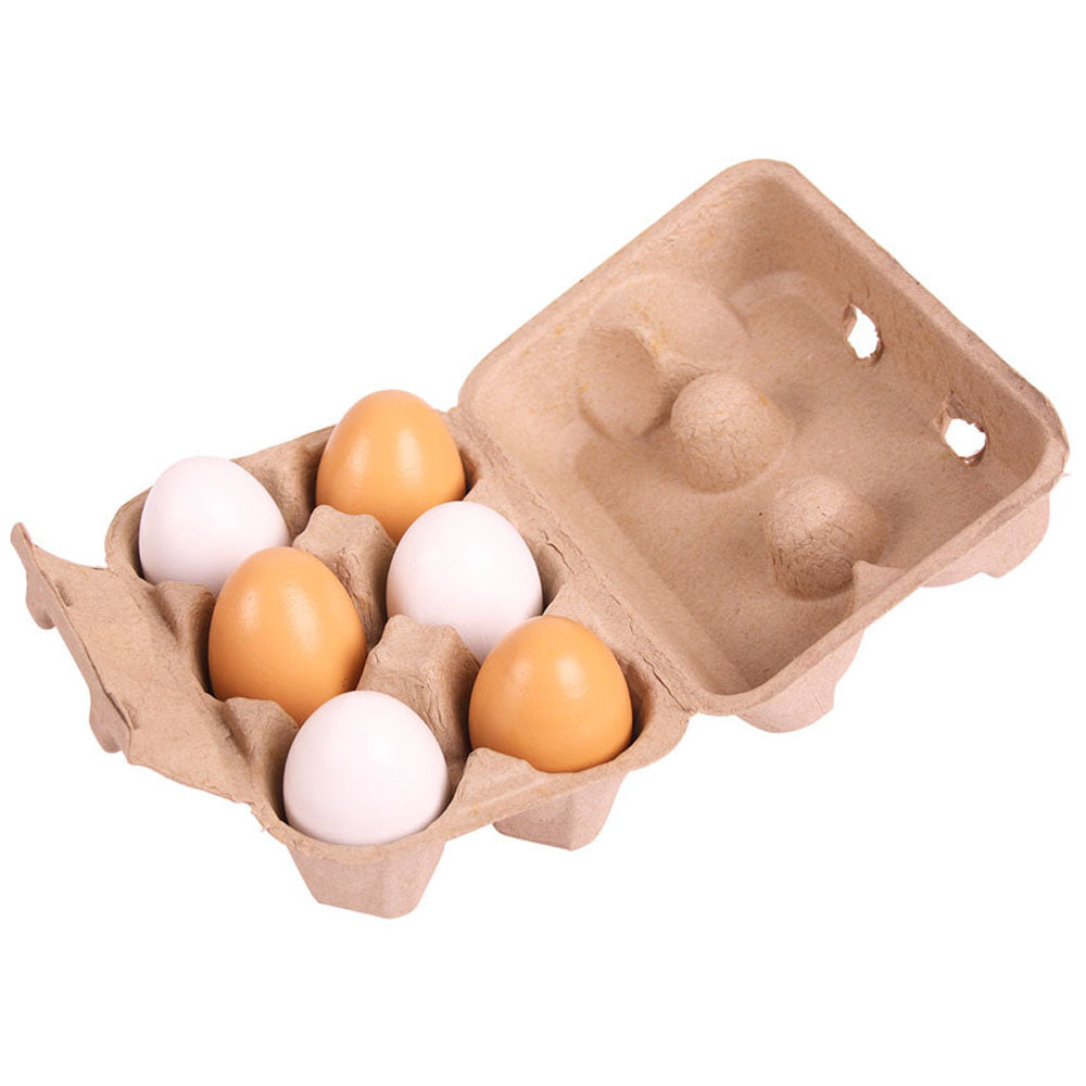 These realistic looking Eggs from Bigjigs are perfect for a playtime breakfast and cooking in their little Kitchen. Includes 6 Eggs and a crate. Encourages creative and imaginative role play.