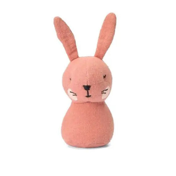 This beautifully handmade Pink Rabbit mini rattle from Picca LouLou is perfect for little hands and the ideal size to keep in your bag to keep them amused whilst out and about.