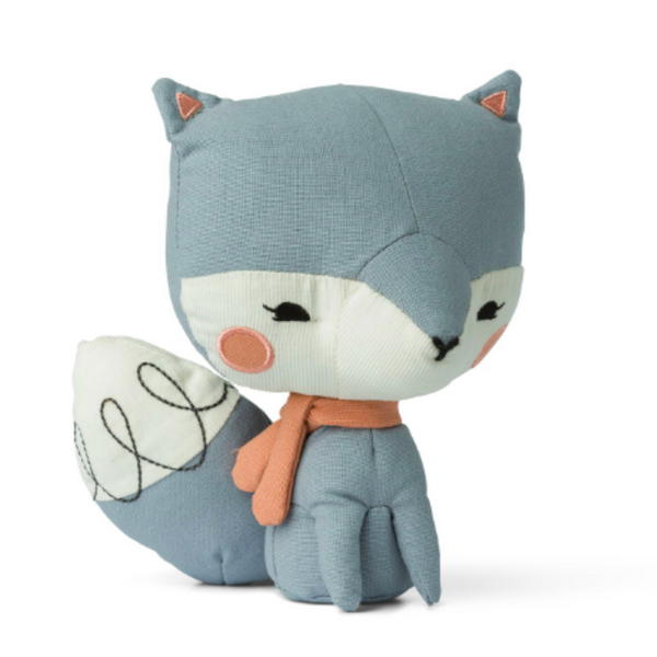 Blue Fox Soft Toy in a Gift Box