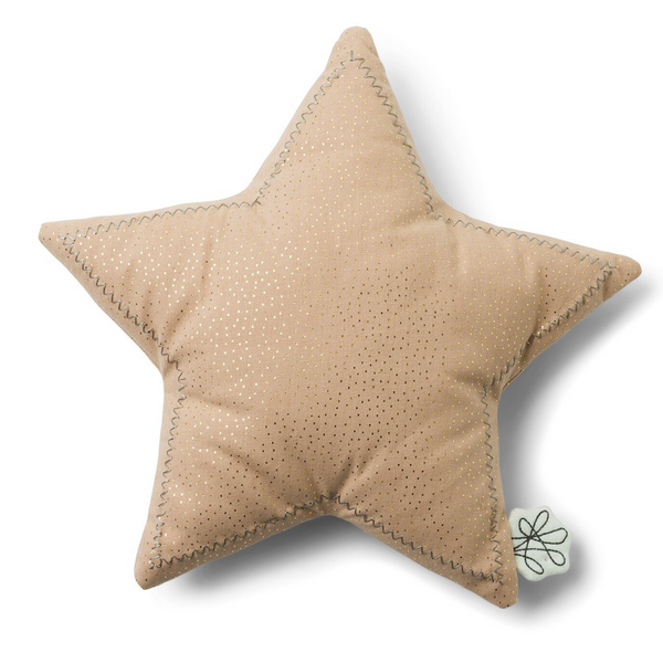 The Star Cushion from Picca Loulou will add a delightful finishing touch to a nursery or bedroom. In plush soft pink this pretty five-point star's contemporary colours will enhance a modern colour scheme while offering little heads a comfy, snuggly accessory, perfect for quiet play, cuddles and nap time.