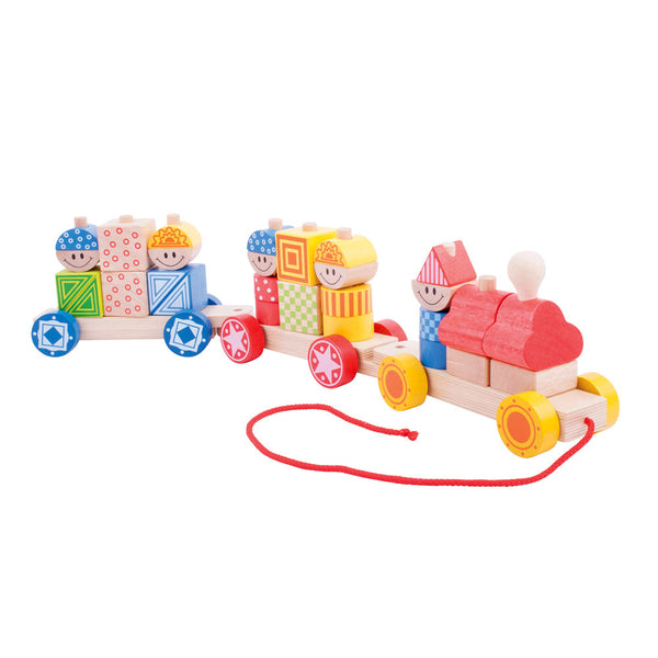 Two great toys in one! Little minds will love the many different ways to build up this wooden Train from Bigjigs. Twisting, turning and pulling this colourful train will provide endless hours of fun. Encourages mobility and helps to develop co-ordination. Made from high quality, responsibly sourced materials. Consists of 28 play pieces.