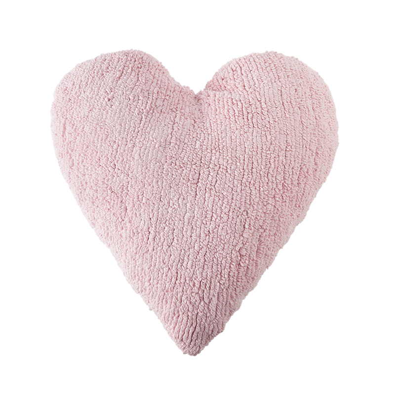Big Heart Washable Cushion - Pink - Rooms for Rascals, a Leafy Lanes Retailers Ltd business