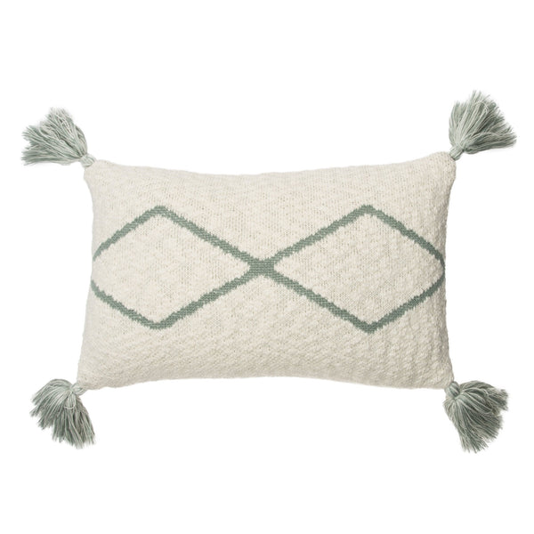 Little Oasis Knitted Washable Cushion - Natural Indus Blue