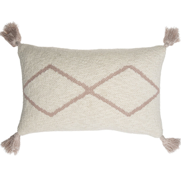 Little Oasis Knitted Washable Cushion - Natural Pale Pink - Rooms for Rascals, a Leafy Lanes Retailers Ltd business