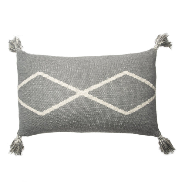 Oasis Knitted Washable Cushion - Grey - Rooms for Rascals, a Leafy Lanes Retailers Ltd business