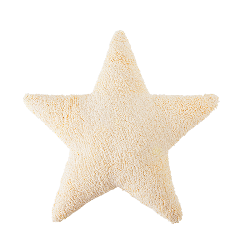 Big Star Washable Cushion - Vanilla - Rooms for Rascals, a Leafy Lanes Retailers Ltd business