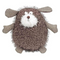 Scruff the dog is a large brown soft toy with wonky eyes, tweed arms and a white nose with a fluffy, scruffy body. A lovely gift for a newborn or child.
