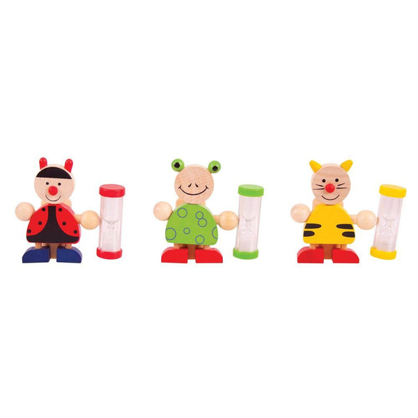 Help your kids brush their teeth for the perfect amount of time with these wooden Animal Tooth Brush Timers from Bigjigs! With the help of one of these cute wooden timers, your little one will learn about the importance of healthy teeth and a thorough brushing routine. They will learn all about the three minute rule and have a safe place to store their brush!