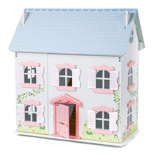 This beautifully detailed Ivy House from Bigjigs will provide endless hours of imaginative play for your little ones and their dolls! Beautifully constructed from wood, the Ivy House is a 2-storey doll house featuring lift-back roof pieces for easy access to the loft, and the doors at the front open wide for easy access to all the rooms! The interior is gorgeously decorated and comes unfurnished, leaving plenty of space for furniture and accessories (sold separately).