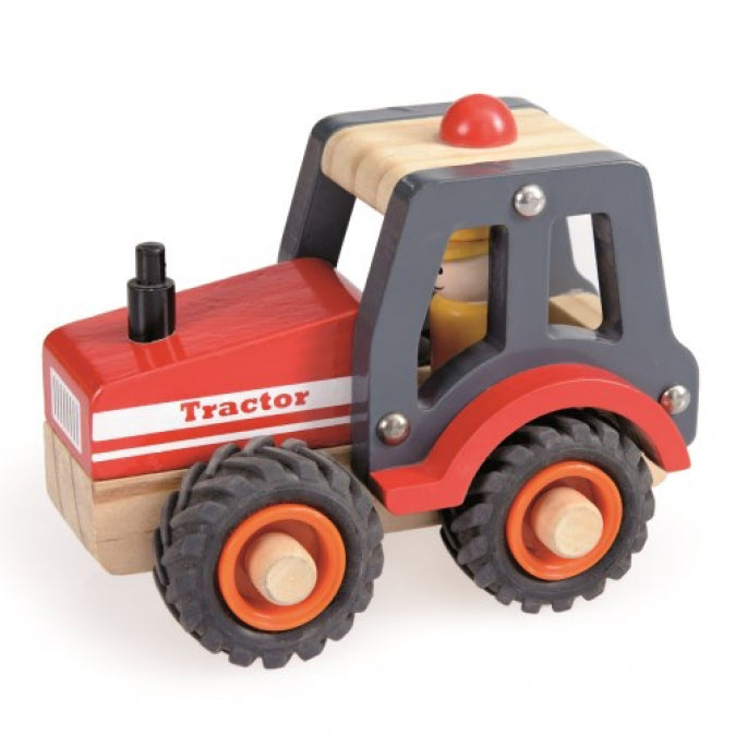 Get the work done on the farm with the help of this Wooden Tractor from Egmont Toys! Light, robust and easy to manipulate.
