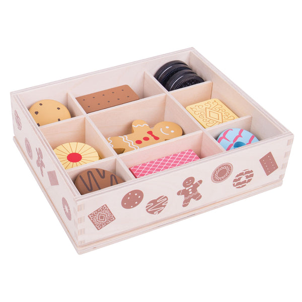 This delicious looking box of biscuits from Bigjigs will provide hours of fun for your little ones! Includes some of your favorite biscuits, including gingerbread men, party rings, custard creams and much more!