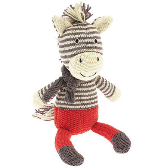 Zaza Zebra Knitted Toy - Kids Room Decor | Toys Gifts | Childrens Interiors | Rooms for Rascals