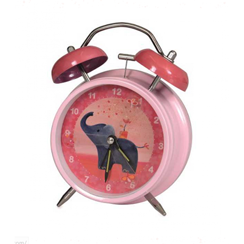 A silent clock (no loud ticking besides your ears), but when the clock rings you will have to get out of bed.