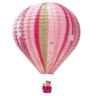 Hot Air Balloon Paper Lampshade Pink - Kids Room Decor | Toys Gifts | Childrens Interiors | Rooms for Rascals